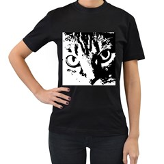 Cat Women s T-Shirt (Black)