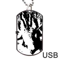 Cat Dog Tag USB Flash (One Side)