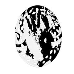 Cat Ornament (Oval Filigree)
