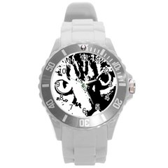 Cat Round Plastic Sport Watch (L)