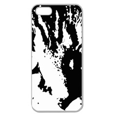 Cat Apple Seamless iPhone 5 Case (Clear)