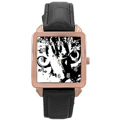 Cat Rose Gold Leather Watch