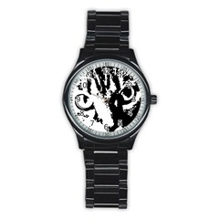 Cat Stainless Steel Round Watch