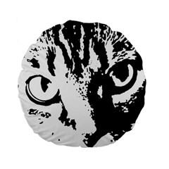 Cat Standard 15  Premium Flano Round Cushions