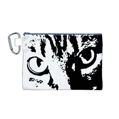 Cat Canvas Cosmetic Bag (M)