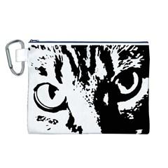 Cat Canvas Cosmetic Bag (L)