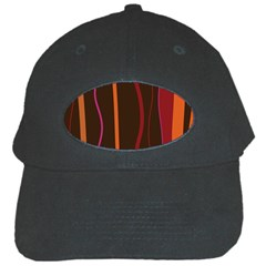 Colorful Striped Background Black Cap