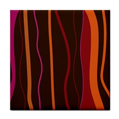 Colorful Striped Background Tile Coasters