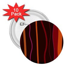 Colorful Striped Background 2.25  Buttons (10 pack)