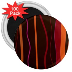 Colorful Striped Background 3  Magnets (100 pack)