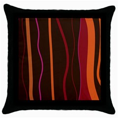 Colorful Striped Background Throw Pillow Case (Black)