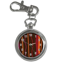 Colorful Striped Background Key Chain Watches