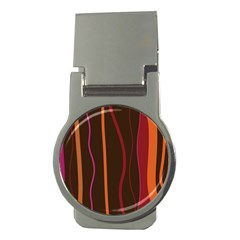 Colorful Striped Background Money Clips (Round)