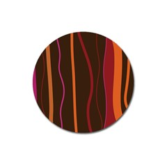 Colorful Striped Background Magnet 3  (Round)