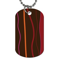 Colorful Striped Background Dog Tag (One Side)