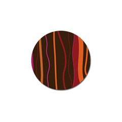 Colorful Striped Background Golf Ball Marker (4 pack)