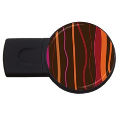 Colorful Striped Background USB Flash Drive Round (1 GB)