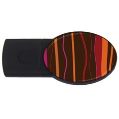 Colorful Striped Background USB Flash Drive Oval (2 GB)