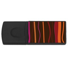 Colorful Striped Background USB Flash Drive Rectangular (2 GB)