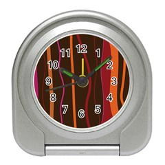 Colorful Striped Background Travel Alarm Clocks