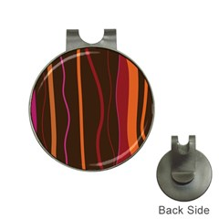 Colorful Striped Background Hat Clips with Golf Markers