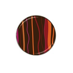 Colorful Striped Background Hat Clip Ball Marker (4 pack)
