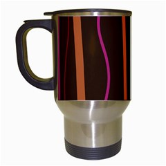 Colorful Striped Background Travel Mugs (White)
