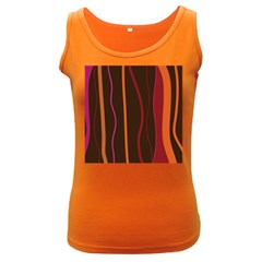 Colorful Striped Background Women s Dark Tank Top