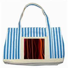 Colorful Striped Background Striped Blue Tote Bag