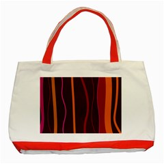 Colorful Striped Background Classic Tote Bag (Red)