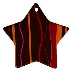 Colorful Striped Background Star Ornament (Two Sides)