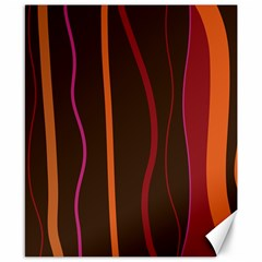 Colorful Striped Background Canvas 8  x 10