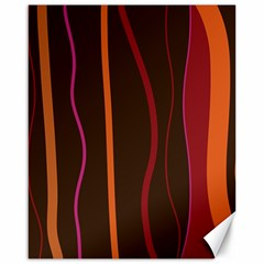 Colorful Striped Background Canvas 16  x 20