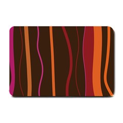 Colorful Striped Background Small Doormat