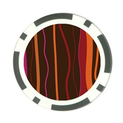Colorful Striped Background Poker Chip Card Guard