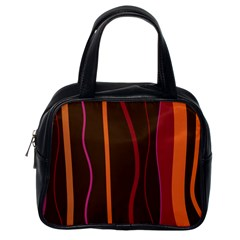 Colorful Striped Background Classic Handbags (One Side)