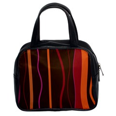 Colorful Striped Background Classic Handbags (2 Sides)