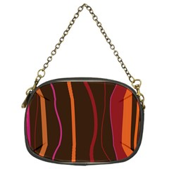 Colorful Striped Background Chain Purses (Two Sides)