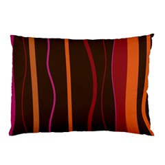 Colorful Striped Background Pillow Case