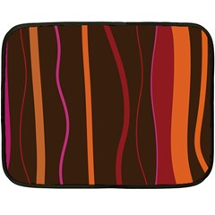 Colorful Striped Background Double Sided Fleece Blanket (Mini)