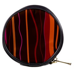 Colorful Striped Background Mini Makeup Bags