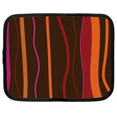 Colorful Striped Background Netbook Case (XL)