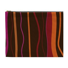 Colorful Striped Background Cosmetic Bag (XL)