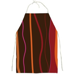 Colorful Striped Background Full Print Aprons