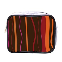 Colorful Striped Background Mini Toiletries Bags