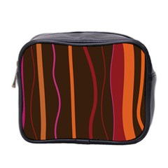 Colorful Striped Background Mini Toiletries Bag 2-Side