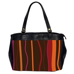 Colorful Striped Background Office Handbags (2 Sides)