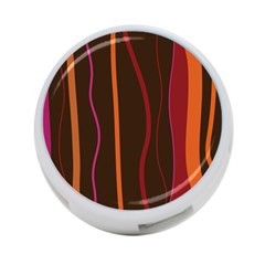 Colorful Striped Background 4-Port USB Hub (One Side)