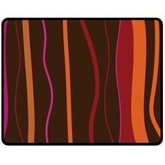 Colorful Striped Background Fleece Blanket (Medium)