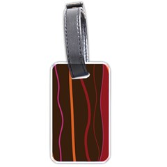 Colorful Striped Background Luggage Tags (One Side)